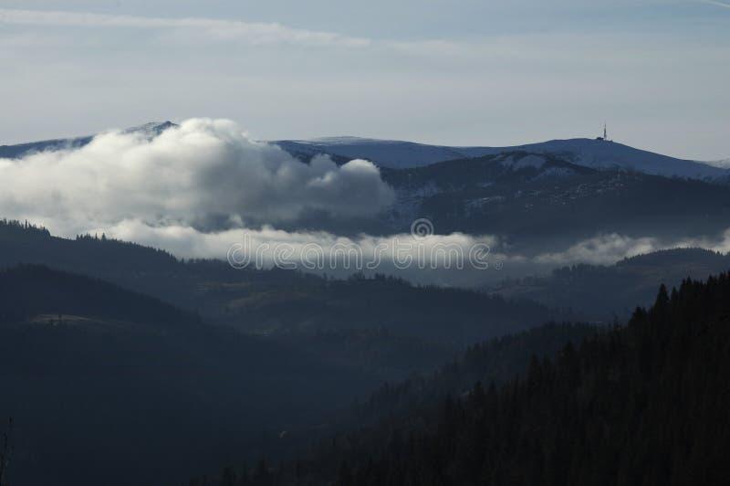 Oberseite des Berges lizenzfreies stockfoto