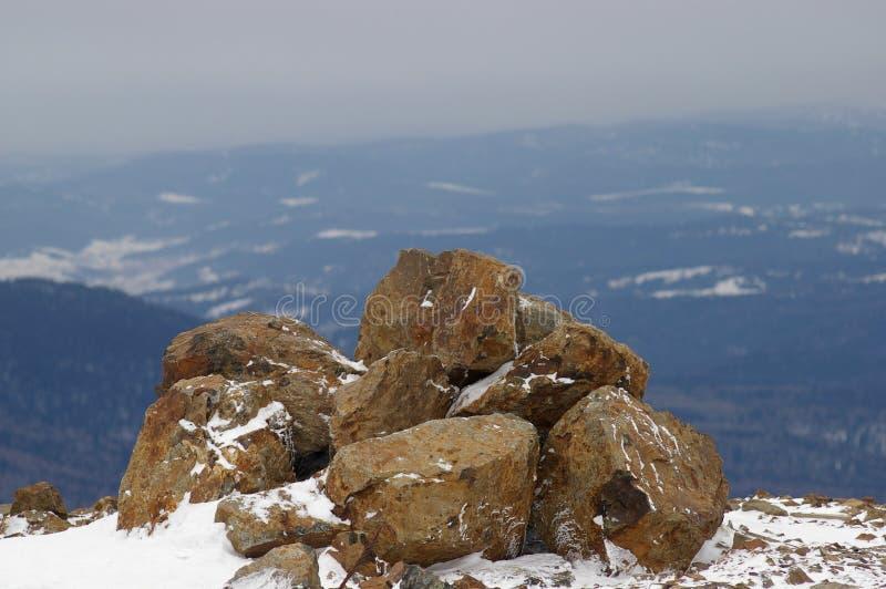 Oberseite des Berges stockbilder