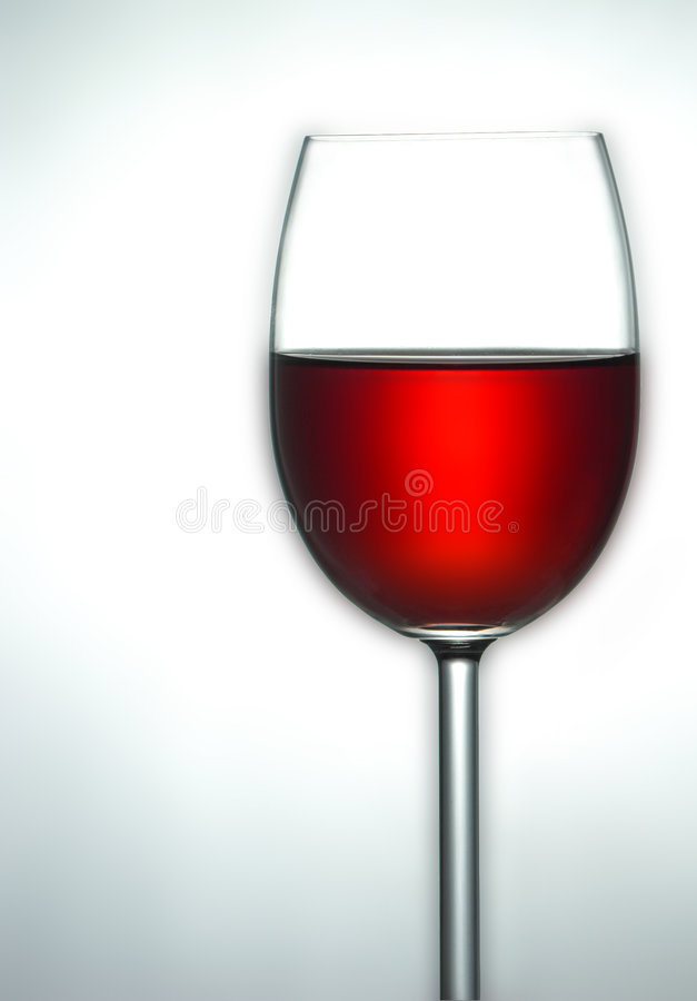 Oberseite des Glases Rotweins stockbild