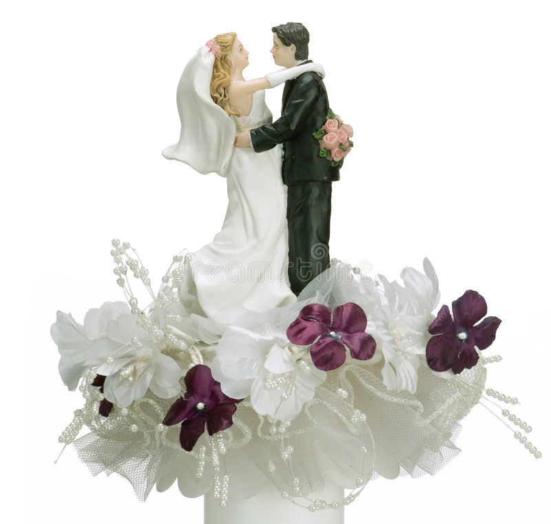 Oberseite des Hochzeitskuchens lizenzfreie stockfotos