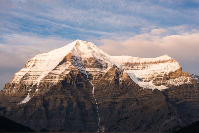 Oberseite von Mt Robson, Britisch-Columbia, Kanada lizenzfreie stockbilder