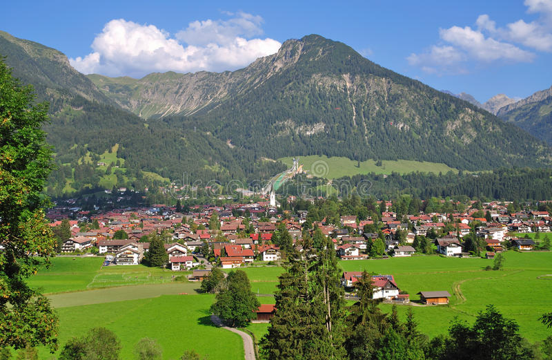 Oberstdorf, Allgaeu, Hoger Beieren, Duitsland royalty-vrije stock foto