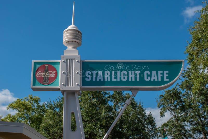 Oberste Aussicht auf das Starlight Café im Magic Kigndom stockfoto