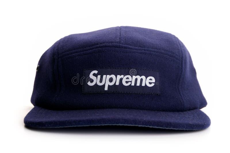 Oberste Kappe des Marineblaus auf weißem Hintergrund lizenzfreie stockfotos
