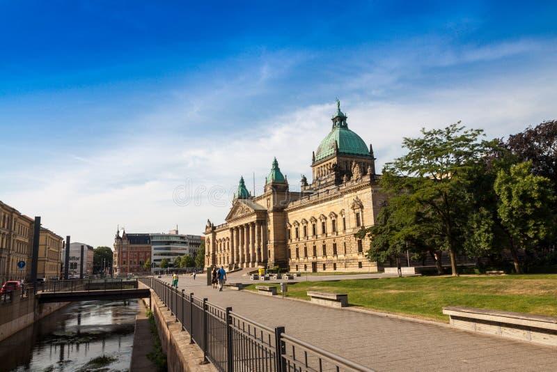 Oberster Gerichtshof, Stadt von Leipzig stockfoto