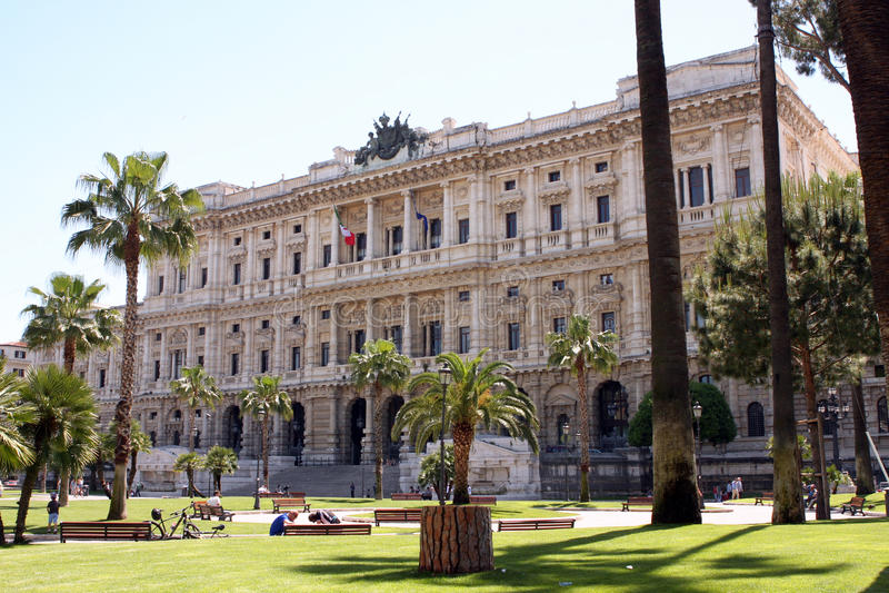 Oberstes Gericht Rom Italien lizenzfreie stockfotos