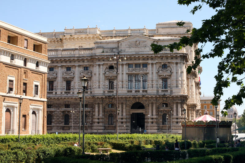 Oberstes Gericht von Gerechtigkeit Rome Italy lizenzfreies stockfoto
