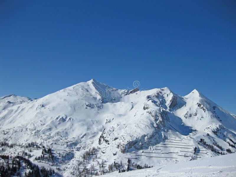 Obertauern στα αυστριακά όρη το χειμώνα στοκ φωτογραφία