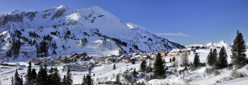 Obertauern滑雪胜地 库存图片
