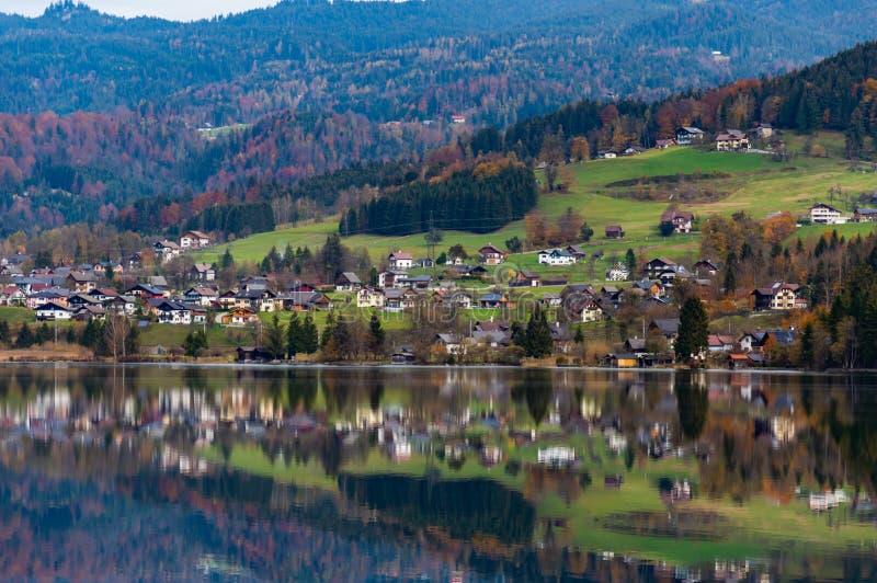Obertraun, See Hallstatt-Vogelperspektive Natur, Ober?sterreich lizenzfreie stockbilder