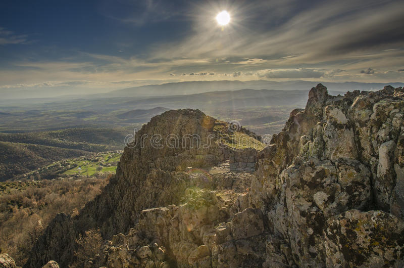 Obervatório antigo de Kokino em Macedônia imagem de stock royalty free