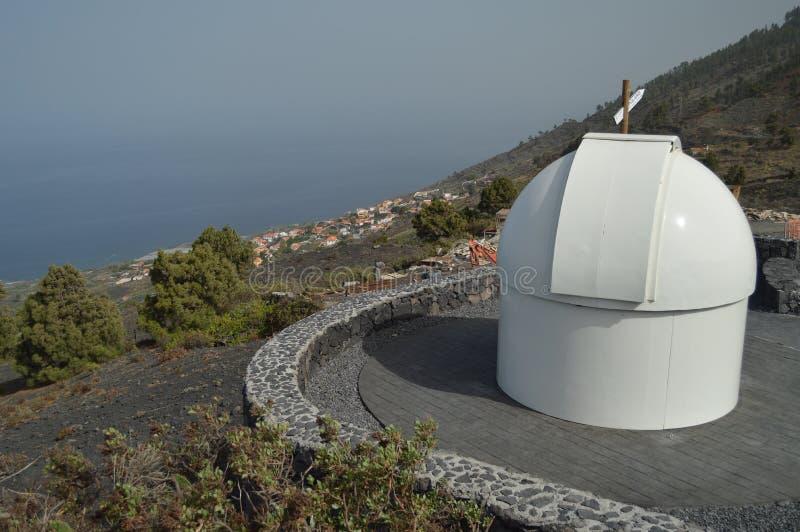 Obervatório astrológico sobre o La Palma In The Canary Islands de San Antonio Volcano On The Island Of Curso, natureza, foto de stock