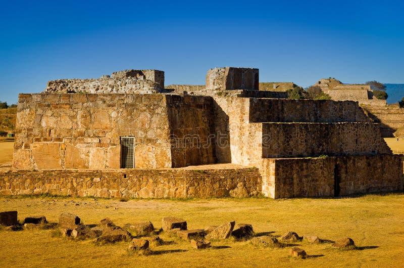 Obervatório astronômico, ruínas de Monte Alban - Oaxaca, Mexi imagens de stock