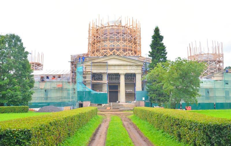 Obervatório de Pulkovo da construção principal imagem de stock royalty free