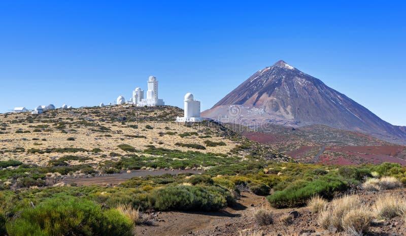 Obervatório de Teide em Tenerife fotografia de stock