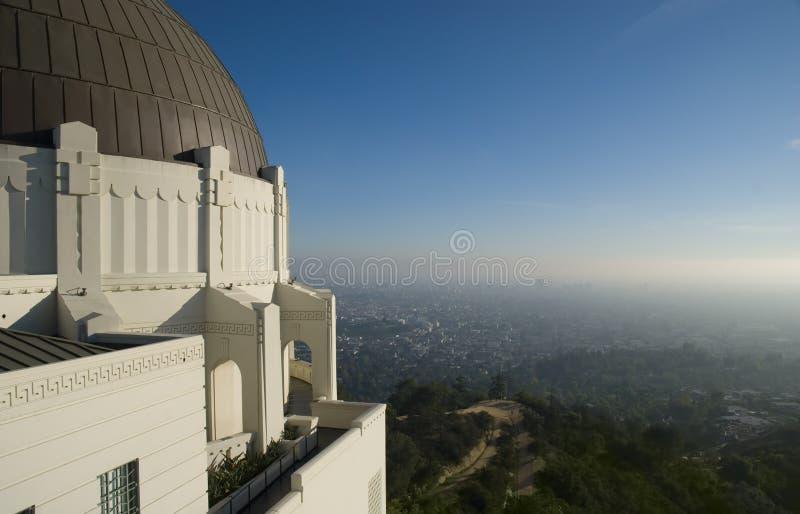 Obervatório do parque de Griffith em Los Angeles, EUA imagem de stock