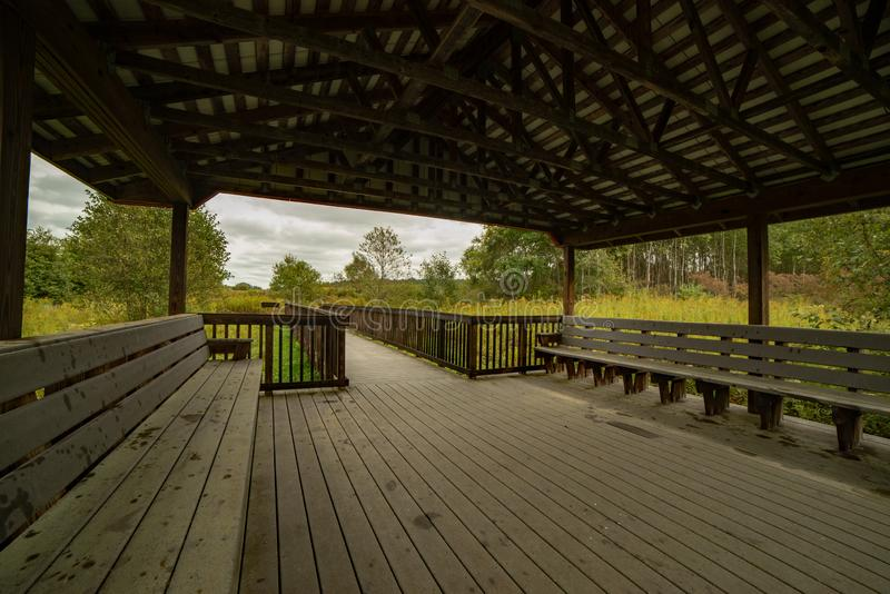 Obervatório dos animais selvagens na reserva natural foto de stock
