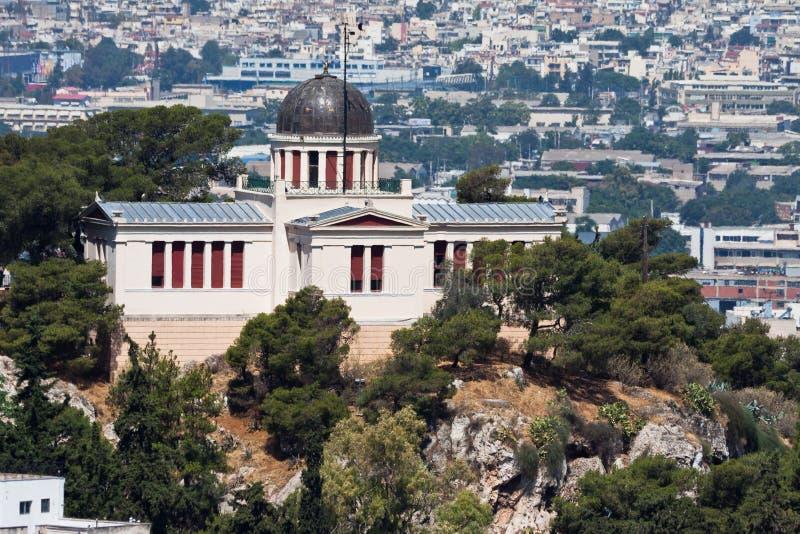 Obervatório nacional de Atenas Greece foto de stock royalty free
