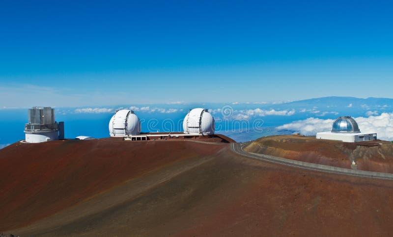 Obervatórios em Mauna Kea na ilha grande foto de stock royalty free