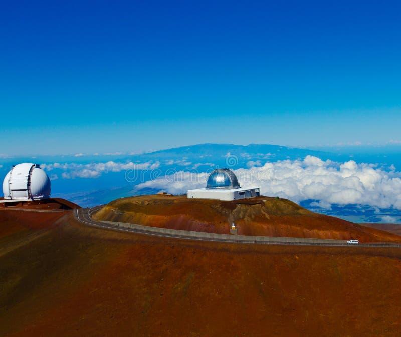 Obervatórios em Mauna Kea na ilha grande imagem de stock