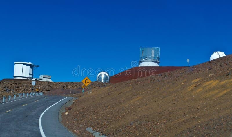 Obervatórios em Mauna Kea na ilha grande imagens de stock