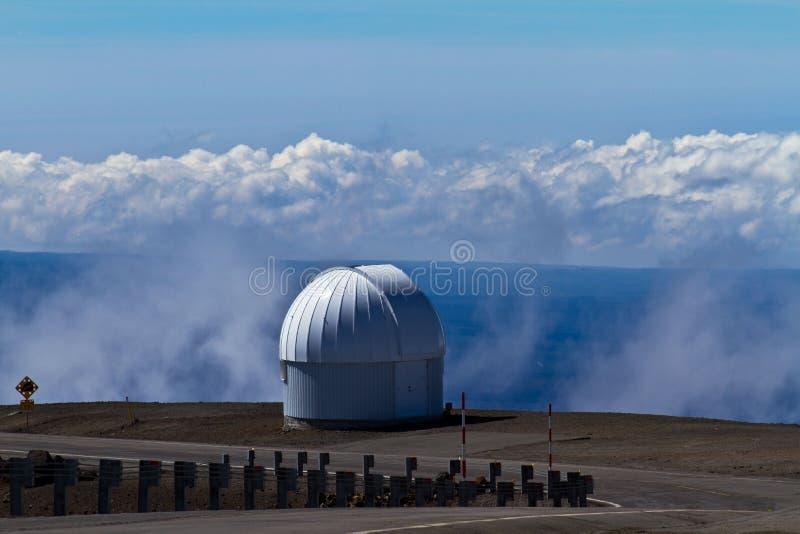 Obervatórios em Mauna Kea na ilha grande fotografia de stock