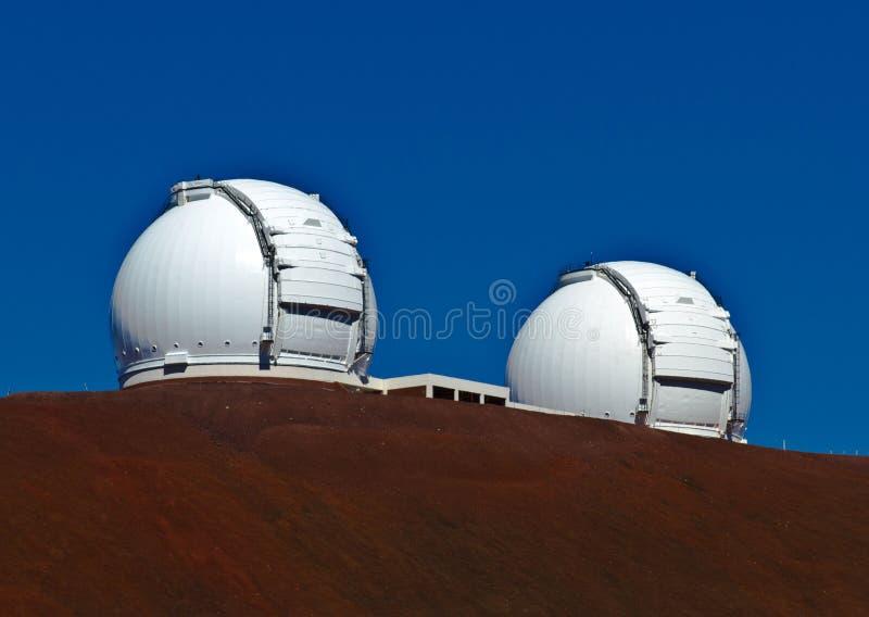 Obervatórios em Mauna Kea na ilha grande, HI fotos de stock royalty free