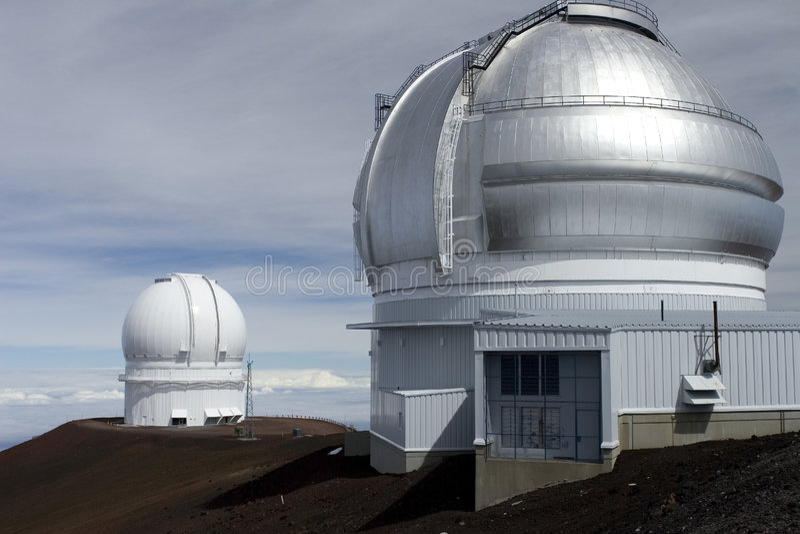 Obervatórios Havaí de Mauna Kea fotografia de stock