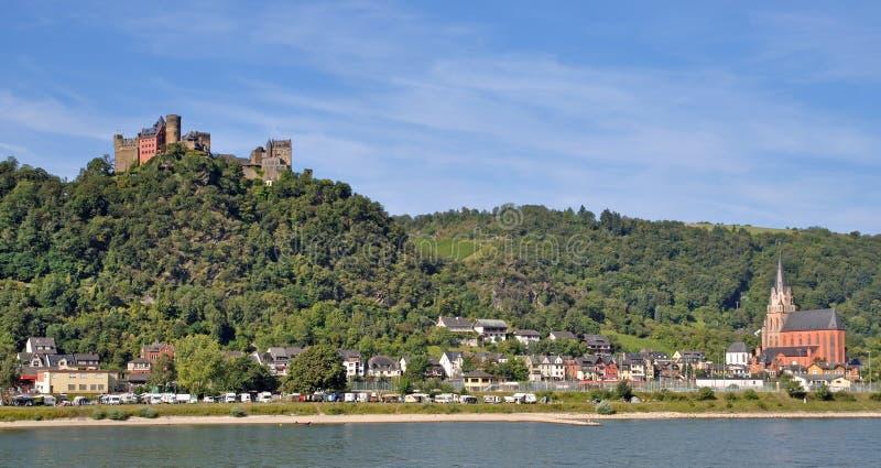 Oberwesel, Rhine Rzeka, Niemcy zdjęcie royalty free