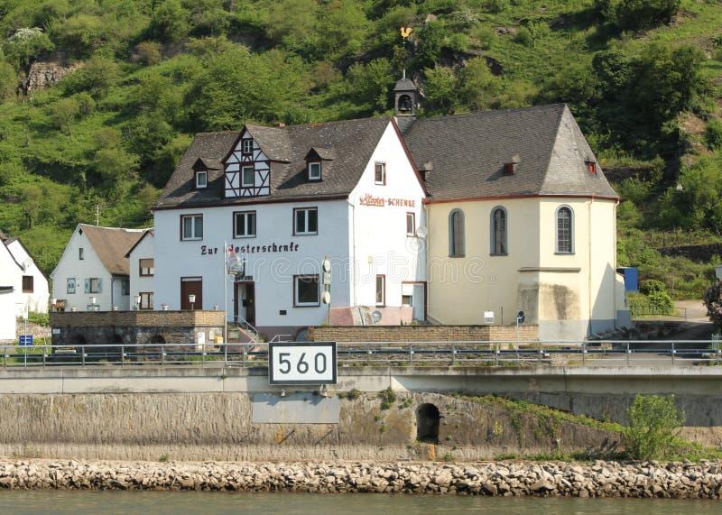 Oberwesel sur le Rhin photos stock
