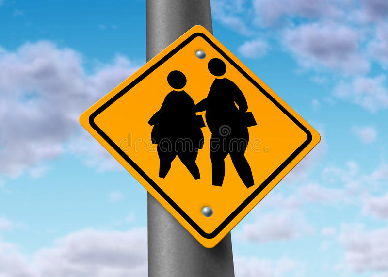 Obese fat school children obesity overweight kids stock illustration