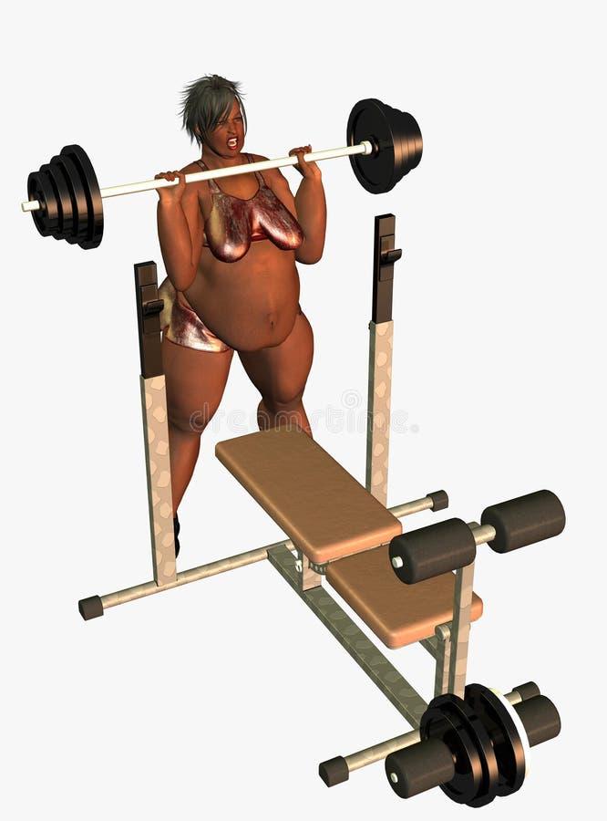 Download Obese female bodybuilder stock illustration. Illustration of repetition - 13080550