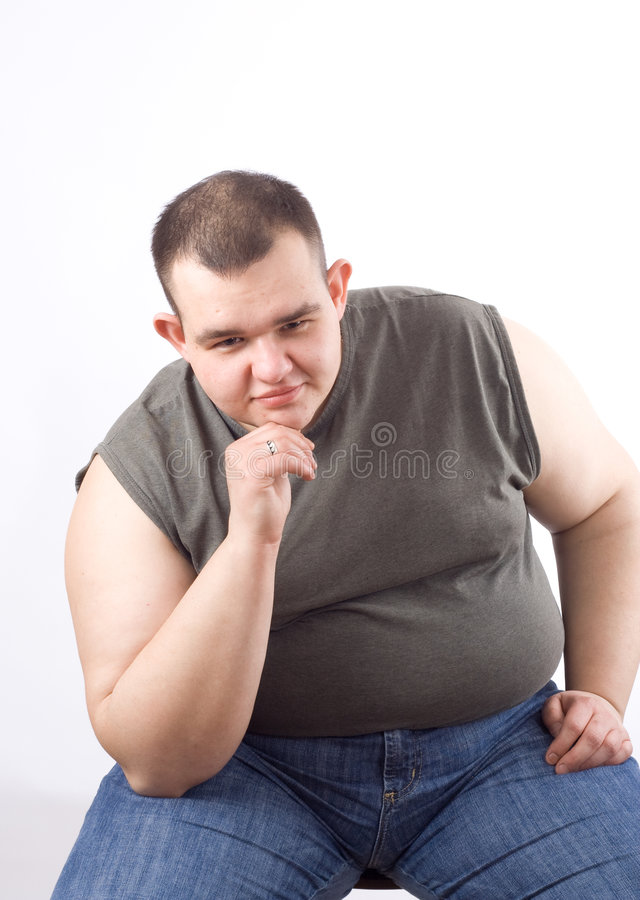 Download Obese man stock image. Image of large, trousers, sits - 4891605