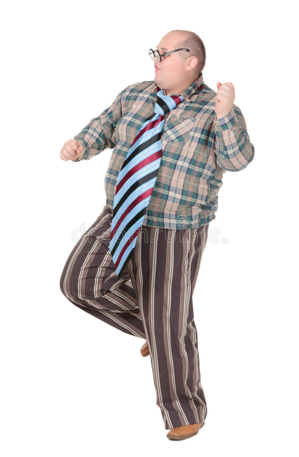 Download Obese Man With An Outrageous Fashion Sense Stock Image - Image: 28961885