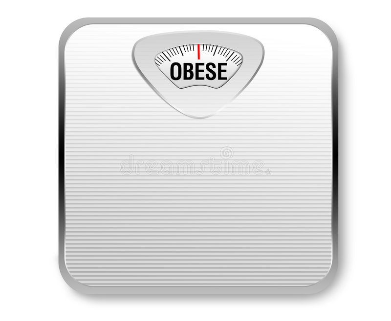 Download Obese Weight Scale stock illustration. Image of bathroom - 6950858