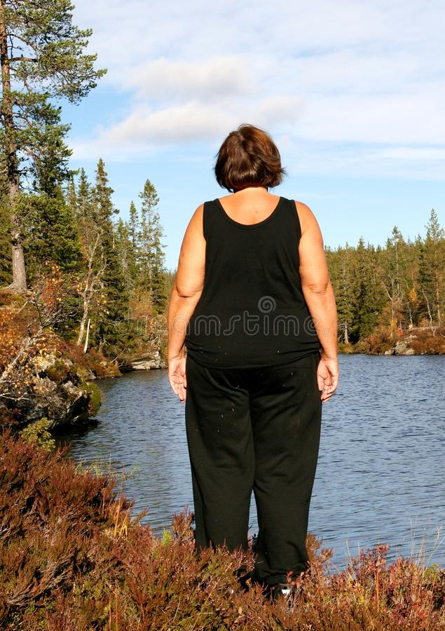 Obese Woman Stock Photography