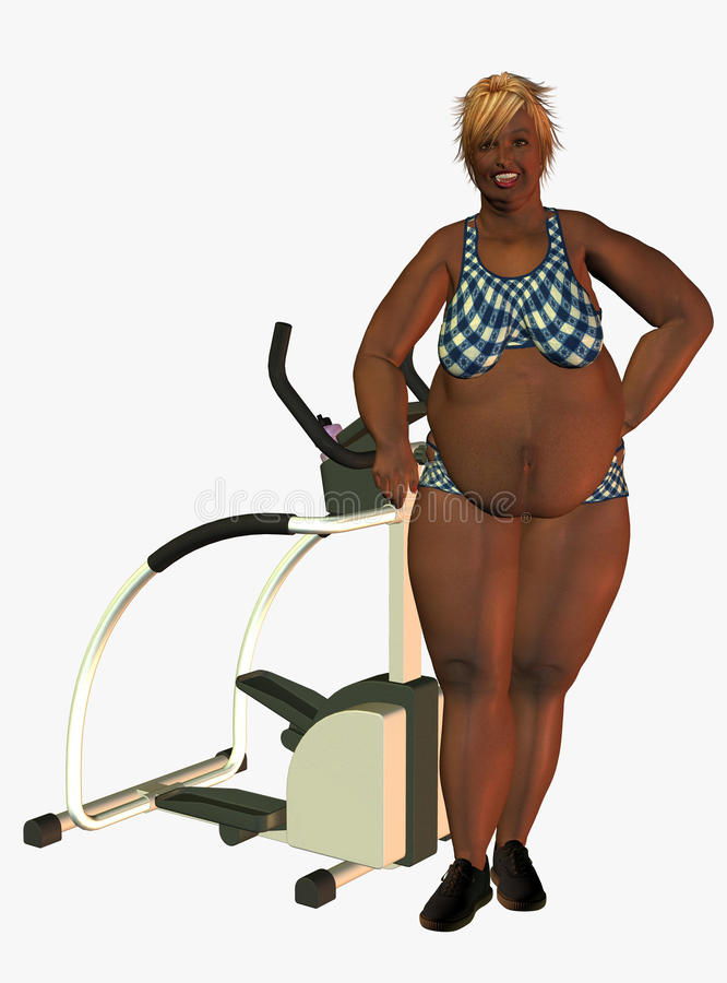 Download Obese woman in gym stock illustration. Illustration of illustration - 13080299