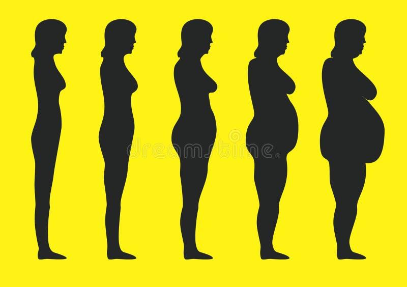 Obesidad ilustración del vector