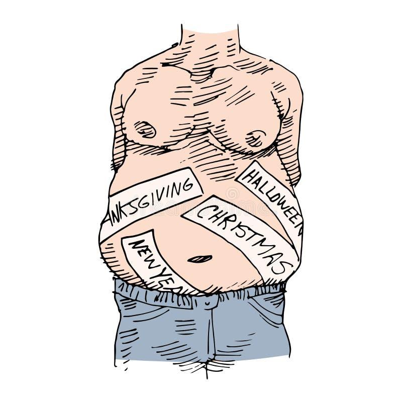 Obesità di festa royalty illustrazione gratis