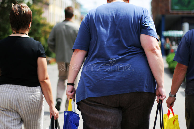 Download Obesity stock image. Image of back, street, rear, health - 5687471
