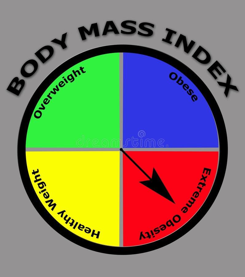 Obesity body mass index royalty free illustration