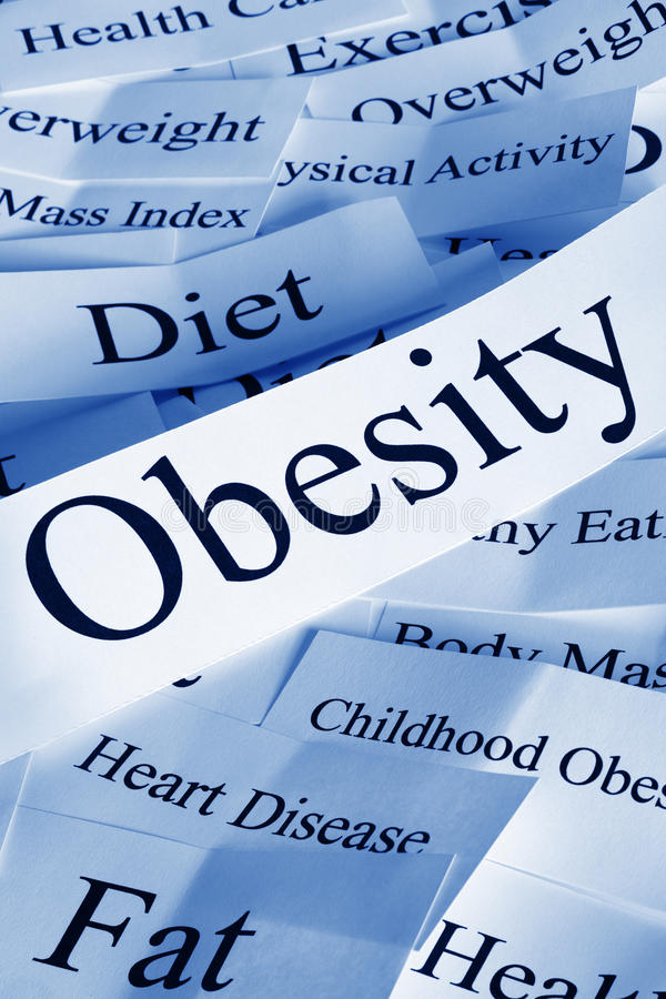 Obesity Concept. With related subjects stock photo
