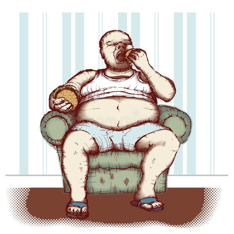 Obesity vector illustration