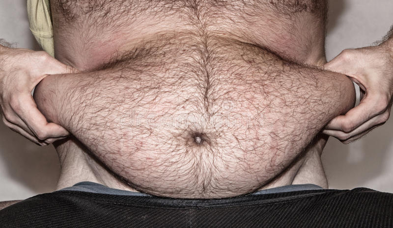 Obesity - fat belly royalty free stock photography