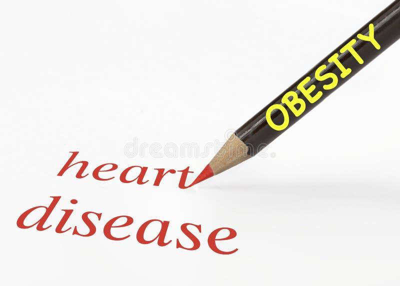 Obesity heart disease stock photography