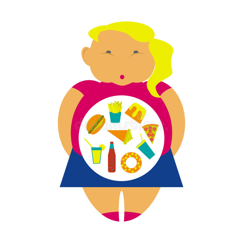 Obesity infographic template royalty free illustration