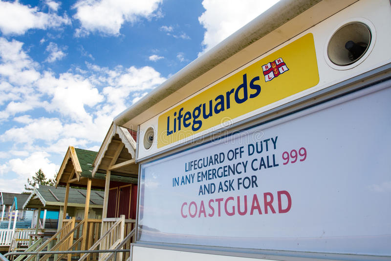 Obevakad station för HM CoastGuard royaltyfri foto