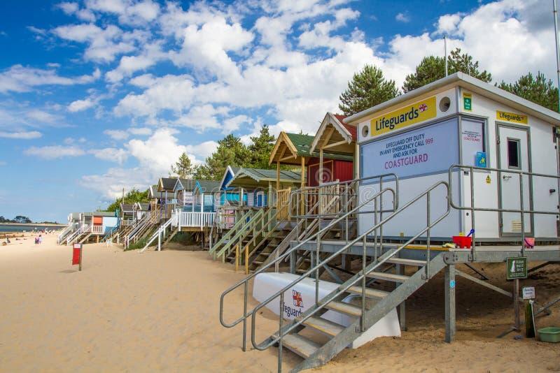 Obevakad station för HM CoastGuard fotografering för bildbyråer