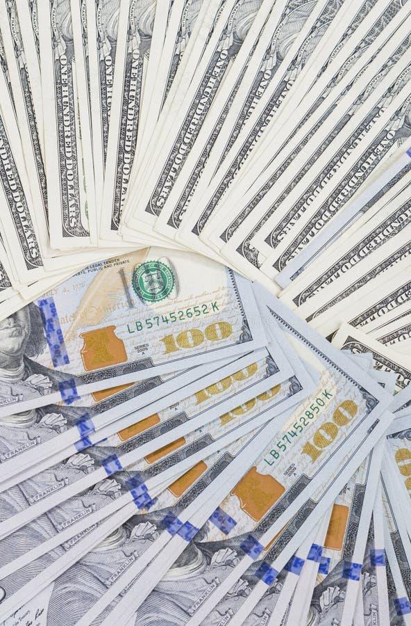 Obfitość dolarów banknotów Ustawiona masa fotografia royalty free