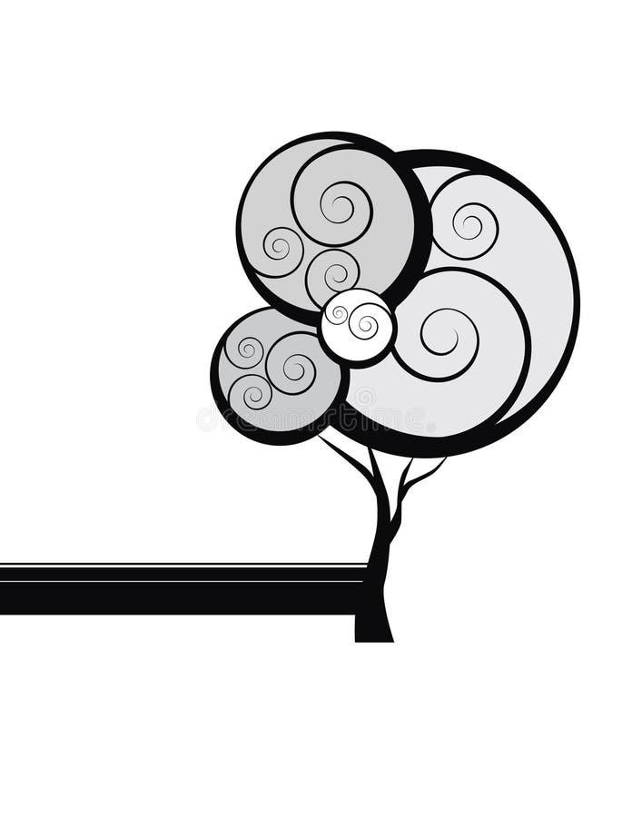 obfitolistny drzewo royalty ilustracja